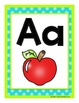 Alphabet Posters & Cards in Bright Polka Dots
