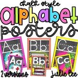 Alphabet Posters Chalk Style