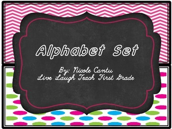 Alphabet Posters- Chalk&Neon