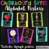 Alphabet Posters: Chalkboard Brights