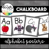 Alphabet Posters: Chalkboard   Classroom Decor