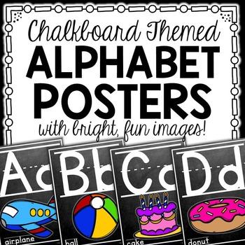 Alphabet Posters {Chalkboard Theme}