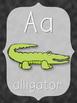 Alphabet Posters - Chalkboard Style