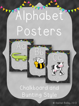 Alphabet Posters - Chalkboard Style