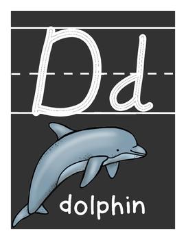 Alphabet Posters: Chalkboard Theme