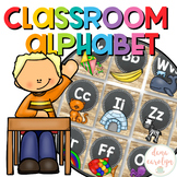 Alphabet Posters {Chalkboard and Rustic Wood Theme}