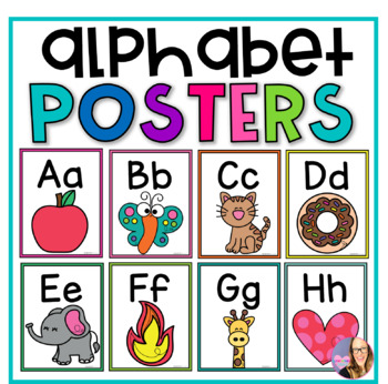 Alphabet Printable Posters- Rainbow Chevron