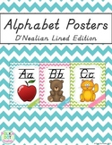 Alphabet Posters Chevron {D'Nealian Lined Edition}