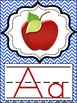 Alphabet Posters Chevron Primary Colors