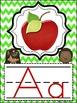 Chevron Print Alphabet Posters (lime green, turquoise, orange, red)