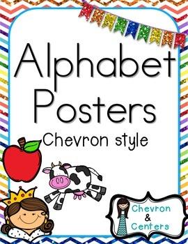 Alphabet Posters-Chevron Style