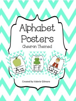 Alphabet Posters Chevron Themed