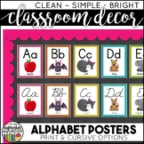 Alphabet Posters: Classroom Decor