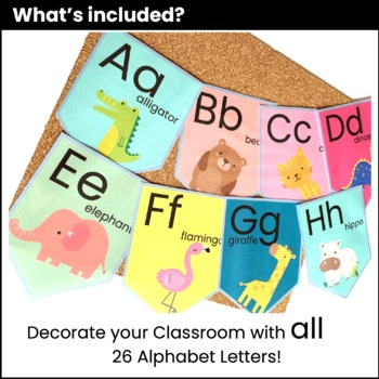 Alphabet Posters Classroom Decor - Uppercase & Lowercase