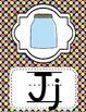 Alphabet Posters Classroom Decor-Bright Polka Dots Theme