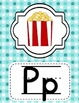 Alphabet Posters Classroom Decor-Light Blue Polka Dots Theme