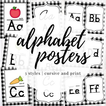 Alphabet Posters - SIMPLE FARMHOUSE CLASSROOM DECOR