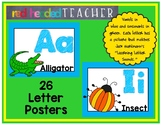 Alphabet Posters - Classroom Letter and Sound Posters (Hor