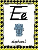 Alphabet Posters D'Nealian {Lined with Yellow and Black}