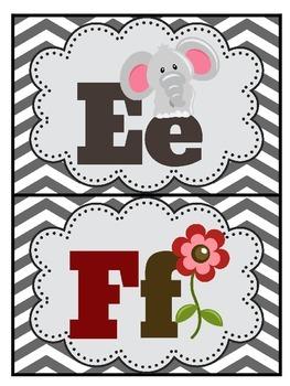 Alphabet Posters: Cloud Edition