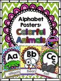 Alphabet Posters - Colorful Animals