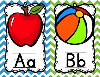 Alphabet Posters {Colorful Chevron}