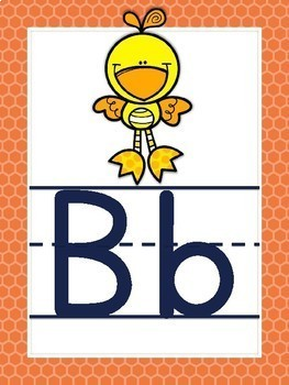 Alphabet Posters Colorful Patterns with ABC Animals