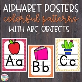Alphabet Posters Colorful Patterns with ABC Objects