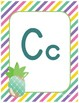 #roomdecor Alphabet Posters - Colorful Pineapples - Primary Manuscript