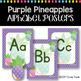 #roomdecor Classroom Decor Purple Alphabet Posters - Pineapples