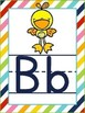 Alphabet Posters Colorful Stripes with ABC Animals