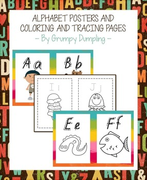 Alphabet Posters, Coloring and Tracing Pages {C and B&W}