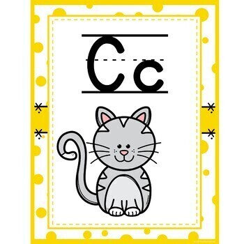 Confetti Alphabet Posters with word wall cards