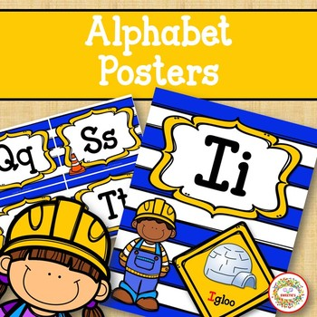 Alphabet Posters - Construction