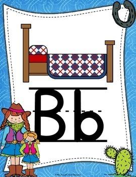 Alphabet Posters {Cowboy Themed}