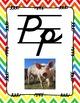 Alphabet Posters Cursive-Lined (Chevron)