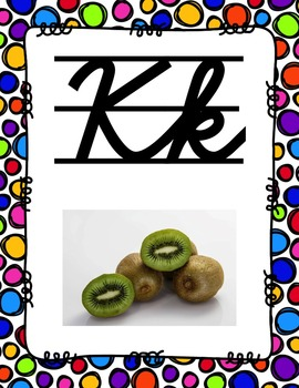 Alphabet Posters Cursive-Lined (Polka-Dots)