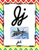 Alphabet Posters Cursive-Unlined (Chevron)