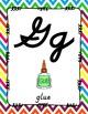 Alphabet Posters Cursive Unlined {Rainbow Chevron}