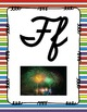 Alphabet Posters Cursive-Unlined (Stripes)