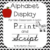 Alphabet Posters ~ Print AND Script
