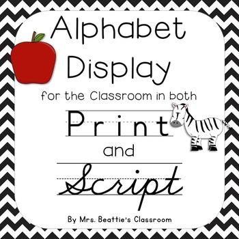 Alphabet Posters ~ Print AND Script