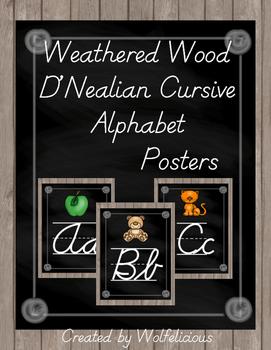 Alphabet Posters D'NealianAlphabet Posters Cursive D'Nealian