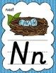 D'Nealian Alphabet Posters for Classroom Decor (Green, Tea