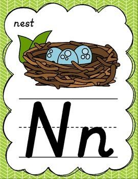 Rainbow D'Nealian Alphabet Posters for Classroom Decor