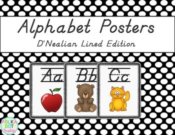 Alphabet Posters {D'Nealian Lined Edition}