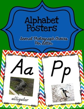 Alphabet Posters D'Nealian (Unlined with Chevron)