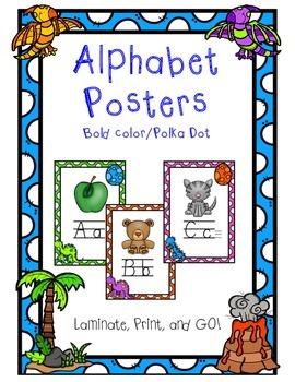 Alphabet Posters - Dinosaur Theme