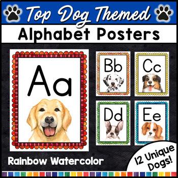 Alphabet Posters - Dog Classroom Decor