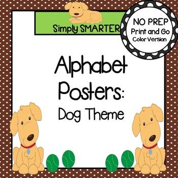 Alphabet Posters:  Dog Theme